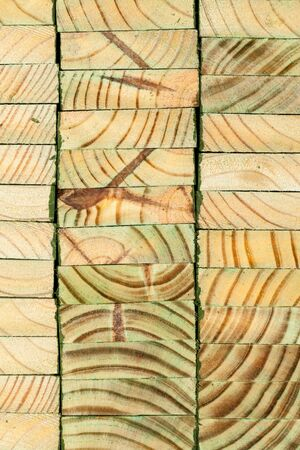 Stacked wooden panels