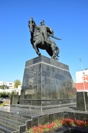 Astana, Kazakhstan - monument to the 18th century war hero BOGENBAI