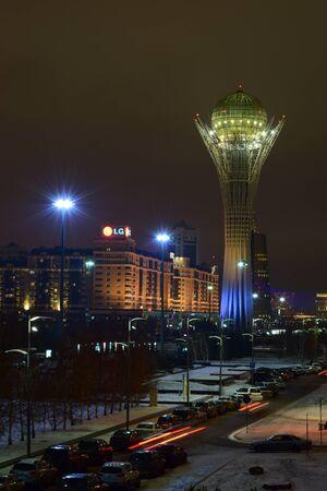 Night view in Astana, capital of Kazakhstan