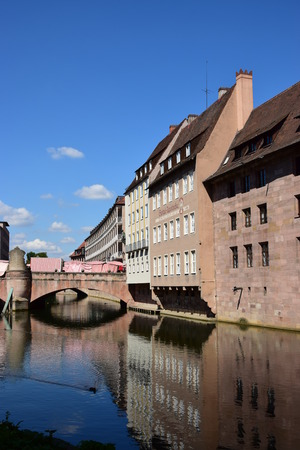 View in the city of Nuremberg, Bavaria, Germany