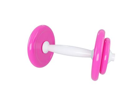 exert: pink dumbbell