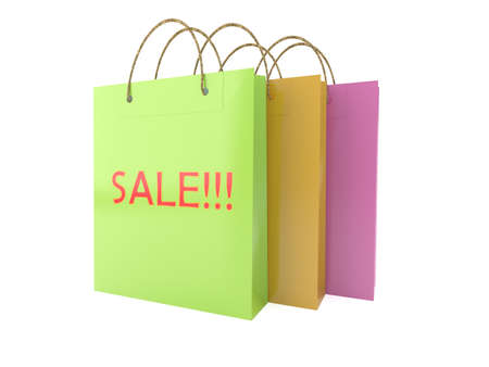 Paper Bag colorful reflection colorful and sale  Stock Photo - 17933537