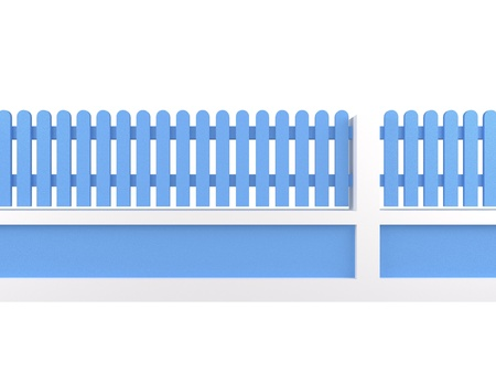 cerulean: cerulean fence on white background