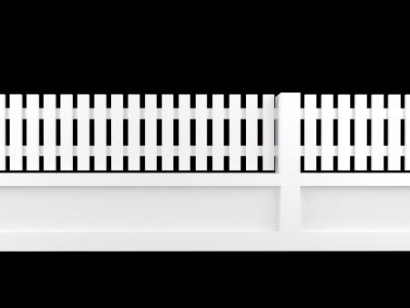 cerca blanca: valla de blanco sobre fondo negro