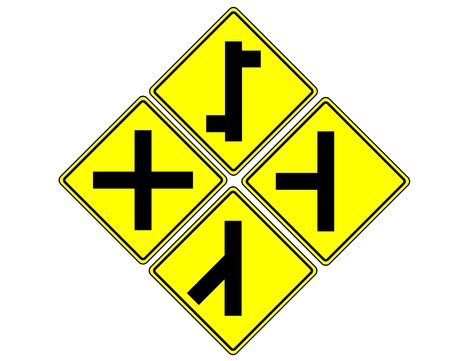 traffic sign on white photo