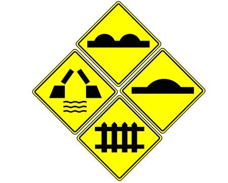traffic sign on white Stock Photo