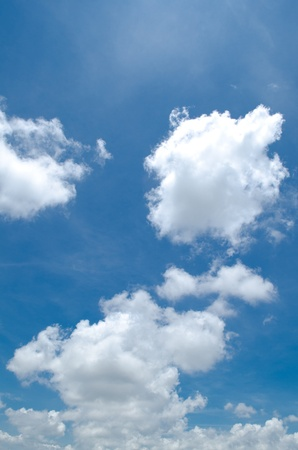 blue sky clouds background photo