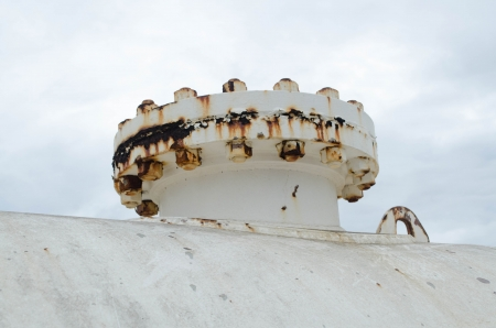 An Old Rusted Industrial Steel Tank Stock Photo - 21615932