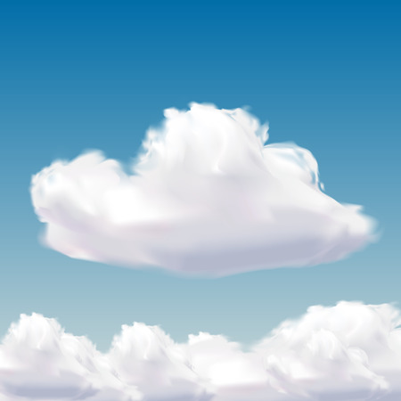 fleecy: cloud on natural blue sky