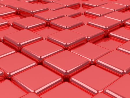 shiny red cube surfaces Stock Photo - 24596123