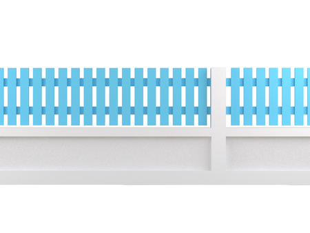 cerulean: cerulean fence on white  Stock Photo