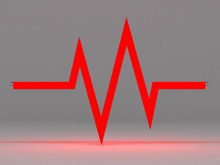 signos vitales: los signos vitales por la l�mpara fluorescente Foto de archivo