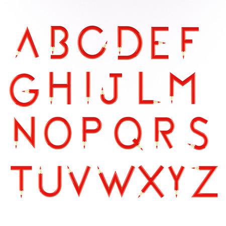 pencil alphabet photo