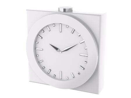 metal wall: analog clock