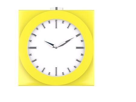 analog: yellow analog clock