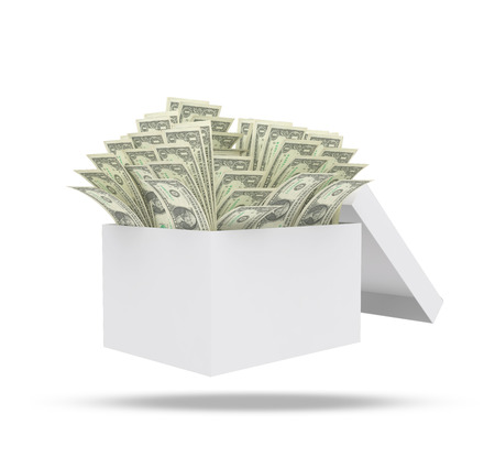 path to wealth: money in boxclipping path