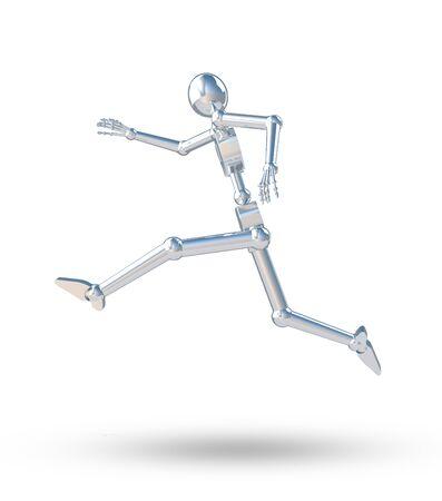 perspiration: robot fast running