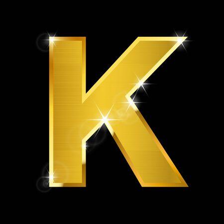 letras de oro: alfabeto oro rayita en negro