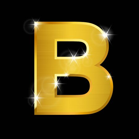 shiny gold: hairline gold alphabet on black