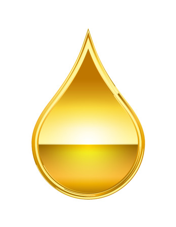 abstract golden drop isolate on white background