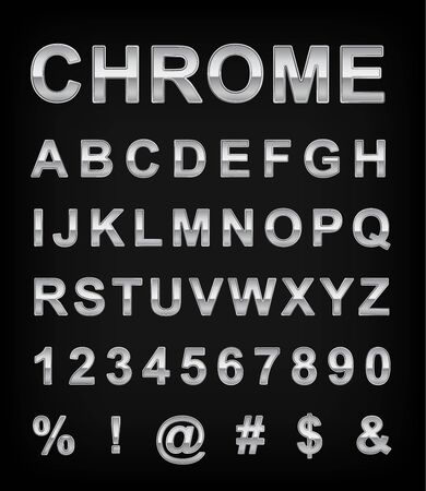 typeset: Chrome alphabet