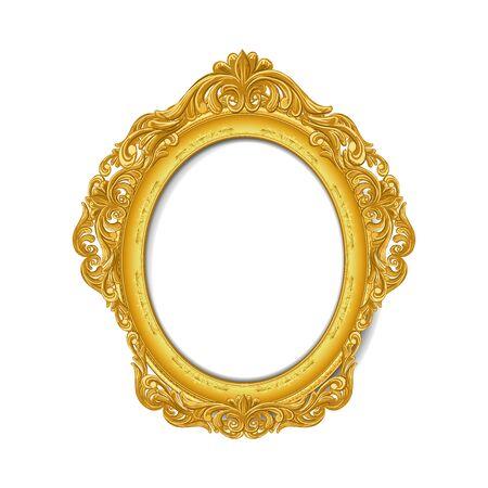 vintage: vintage gold picture frame Illustration