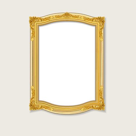 gold: vintage gold picture framevintage gold picture frame Illustration