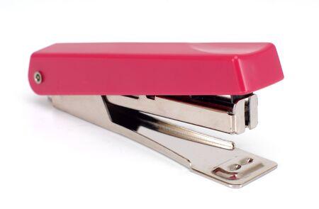 stapler: pink stapler Stock Photo