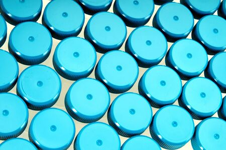 tube lids at laboratory photo