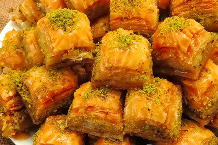 baklava: turkish sweet ( baklava ) Stock Photo
