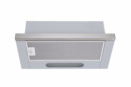 aspirator: stainless steel cooker hood isolated at white background
