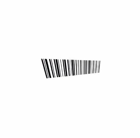 mercantile: black barcode detail isolated at white background Stock Photo