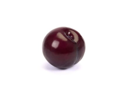 red plum isolated at white background
