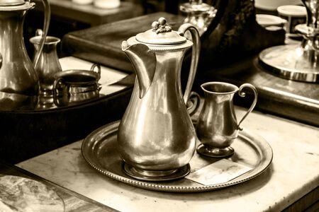 tea set: Antique tea set Stock Photo