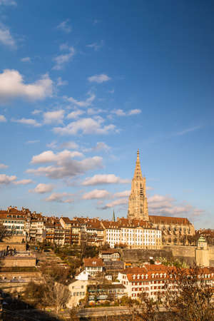Bern cathedral views on a sunny day Banque d'images