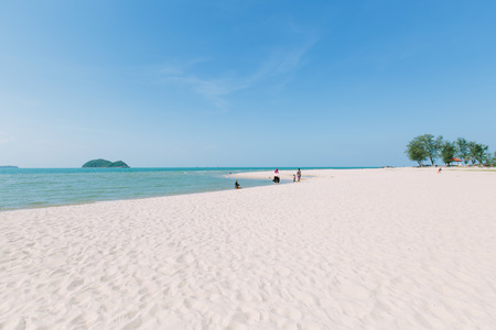 even: View of Similhar beach, Songkha, Thailand