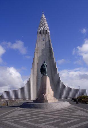 leif: Church Reykjav�k Stock Photo