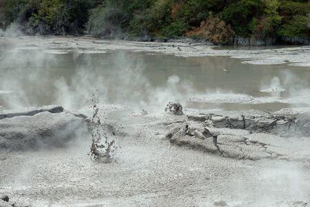 Hot springs Rotorura Banco de Imagens
