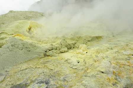 Sulfur source Whitee Island NZ Banco de Imagens