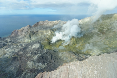 Active volcano on White Island Banco de Imagens