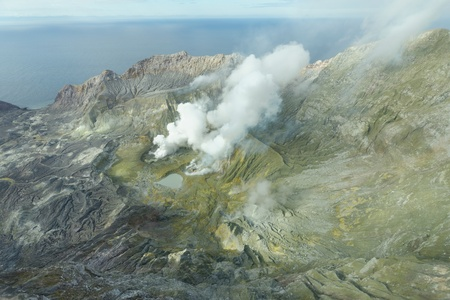 Iceland volcano on White Island NZ