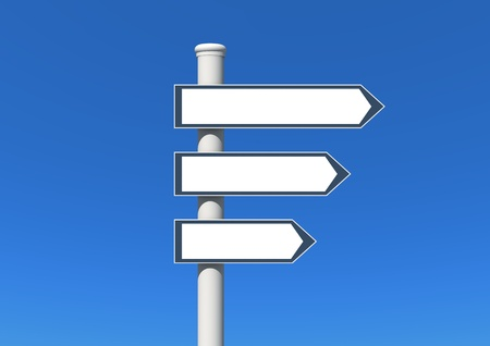 signpost Standard-Bild