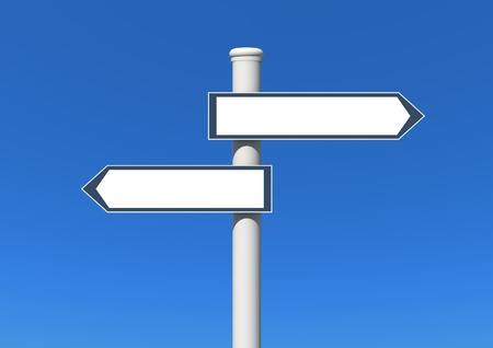 signs: blank signpost  Stock Photo