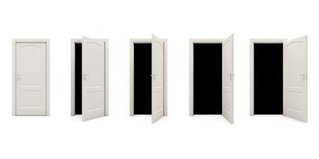 the door opens  a Фото со стока