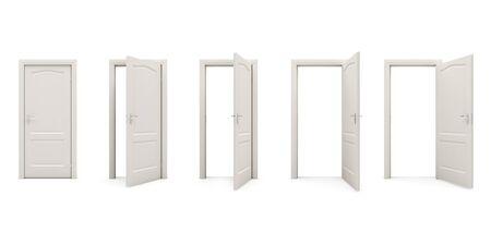 opens: the door opens  c Stock Photo