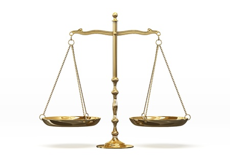 weighing scale: judge Stock Photo