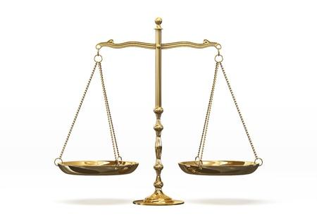 trial balance: juez Foto de archivo