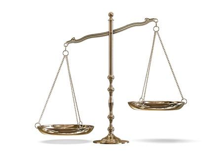 imbalance: schalen Stockfoto