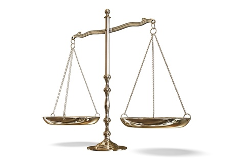 ley: balanza Foto de archivo