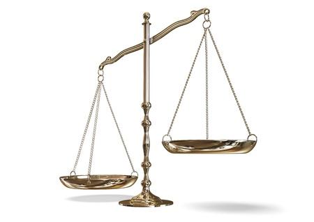 balanza de justicia: balanza Foto de archivo